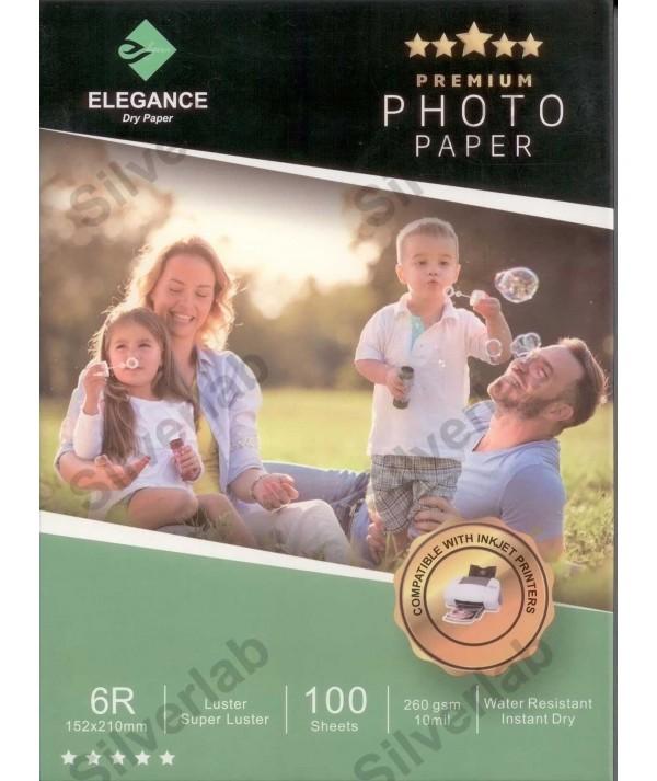 Elegance E-IJ PAPER SHEET 260 GSM LUSTER 15X21 cm 100 Yaprak
