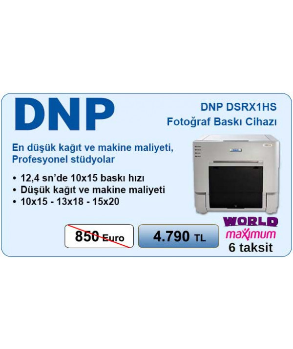 DNP DS-RX1HS Termal Foto Yazıcı 6 Taksit  (world/maximum kartlara)