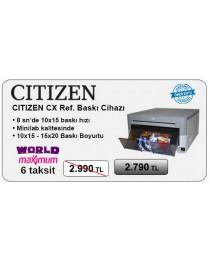 Citizen CX Ref.(Yenilenmiş) Fotoğraf Baskı Cihazı 6 Taksit ( World/ maximum )