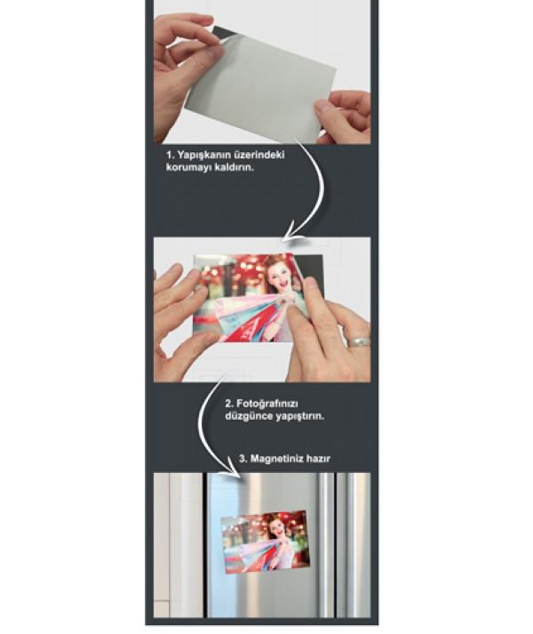 Yapışkanlı 10x15 Fotoğraflar için Magnet